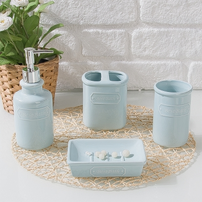 Best Bathroom Stonware 4 Lü Banyo Seti
